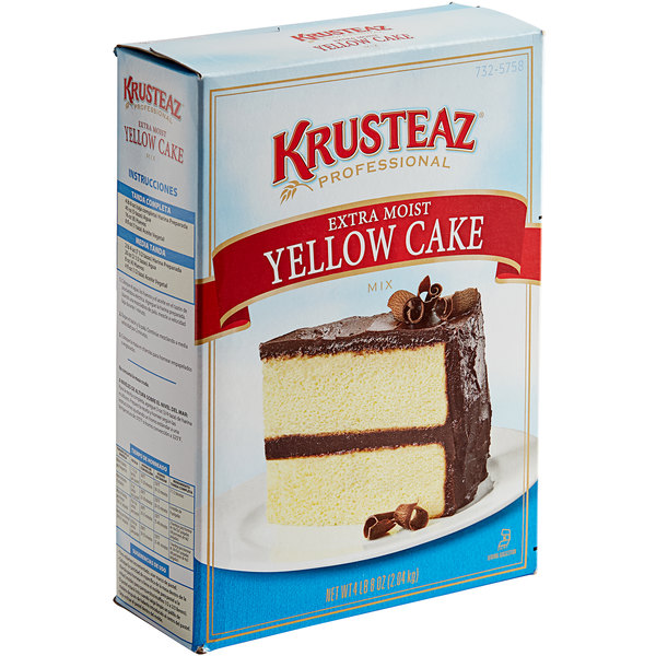 Krusteaz Professional 4.5 lb. Extra Moist Yellow Cake Mix - 6/Case