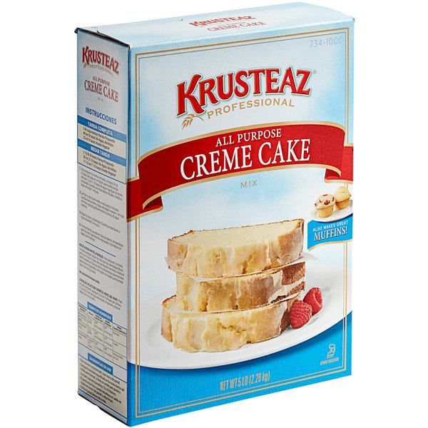 Krusteaz Professional All-Purpose Creme Cake Mix - 6/Case