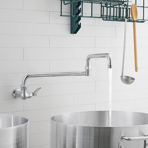 """Waterloo PF24DJ Wall-Mounted Pot and Kettle Filler with Single Inlet and 24"""" Double-Jointed Swing Spout Main Image 4"""