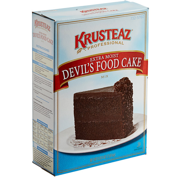 Krusteaz Professional 4.5 lb. Extra Moist Devil's Food Cake Mix - 6/Case