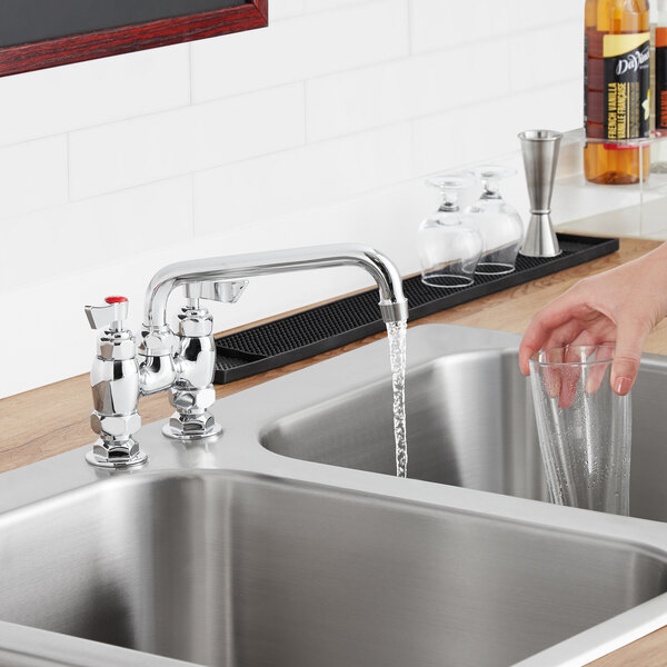 """Waterloo FD48 Deck-Mounted Faucet with 4"""" Centers and 8"""" Swing Spout Main Image 3"""