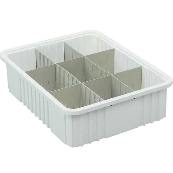 "Metro MTB93050W 23"" x 18"" x 5"" White Divider Tote Box"