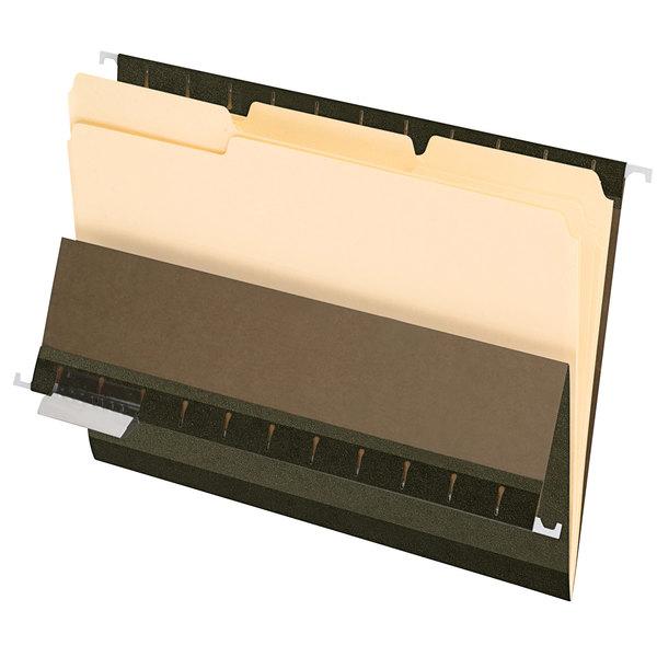 Pendaflex 4210 1/3 Manila Letter Size 1/3 Cut Interior File Folder - 100/Box