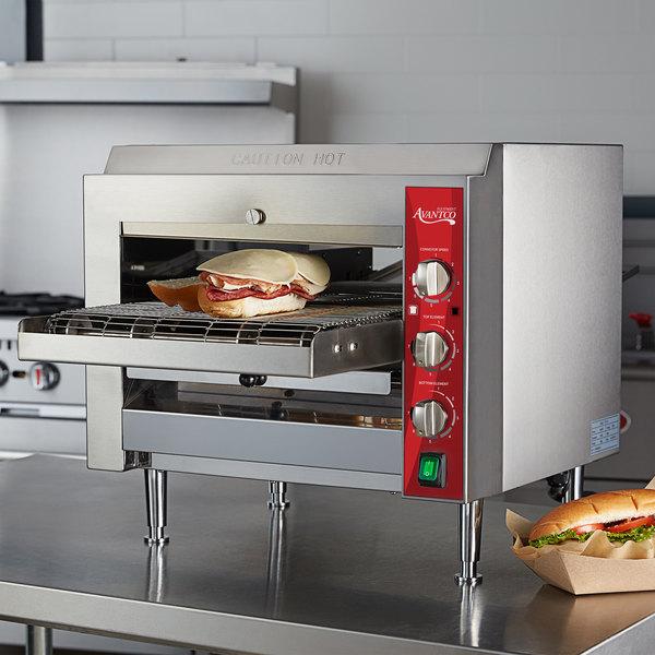 "Avantco CNVYOV14B Countertop Conveyor Oven with 14"" Belt - 208V; 3600W Main Image 4"