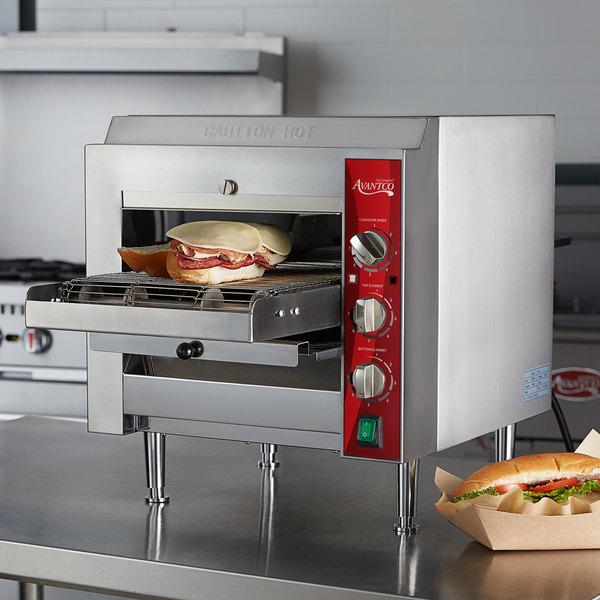 "Avantco CNVYOV10D Countertop Conveyor Oven with 10 1/2"" Belt - 240V; 2800W Main Image 4"
