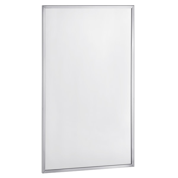 """Bobrick B-165 2448 24"""" x 48"""" Wall-Mounted Mirror with Stainless Steel Channel Frame Main Image 1"""