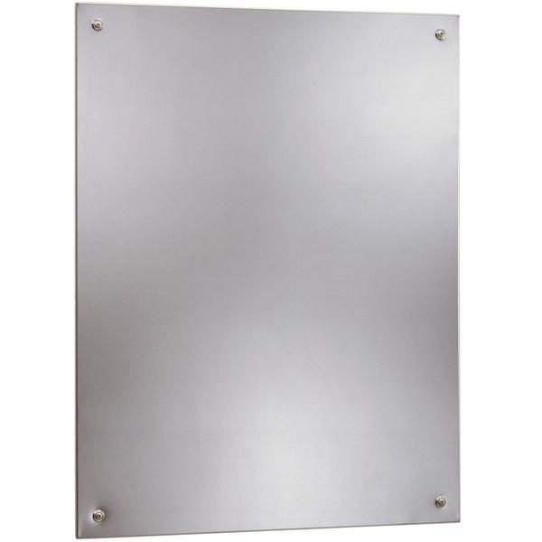 "Bobrick B-1556 1824 17 1/2"" x 23 1/2"" Stainless Steel Wall-Mount Frameless Mirror Main Image 1"