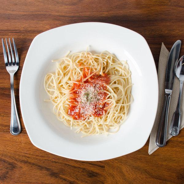 CAC REC-88 Festiware 22 oz. Ivory (American White) Square China Pasta Bowl - 12/Case Main Image 6