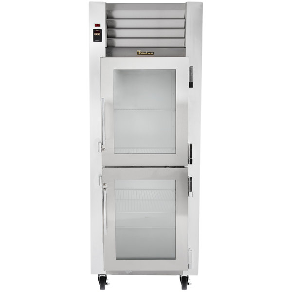 Traulsen G11000 Glass Half Door Reach In Refrigerator   Right Hinged Doors