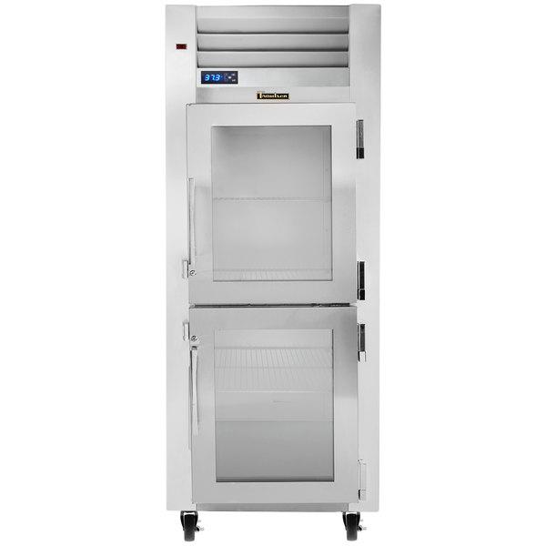 Traulsen G11000 Glass Half Door Reach In Refrigerator - Right Hinged Doors Main Image 1