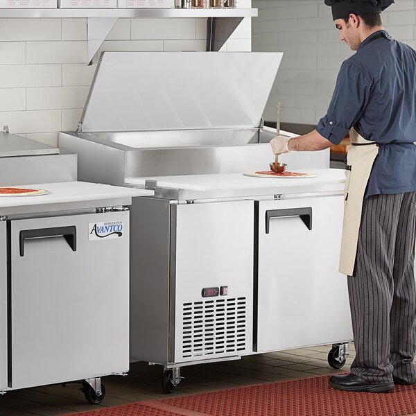 "Avantco APPT-49-HC 49"" 1 Door Refrigerated Pizza Prep Table Main Image 5"