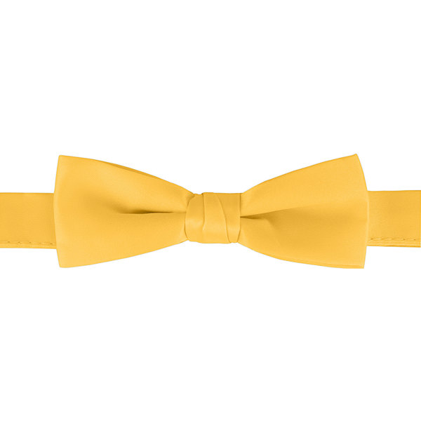 """Henry Segal Gold 1 1/2"""" Wide Adjustable Band Poly-Satin Bow Tie Main Image 1"""