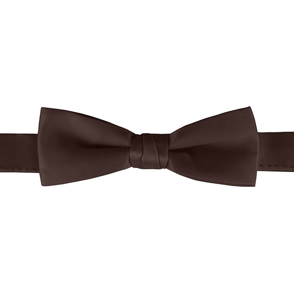 """Henry Segal Brown 1 1/2"""" Wide Adjustable Band Poly-Satin Bow Tie Main Image 1"""