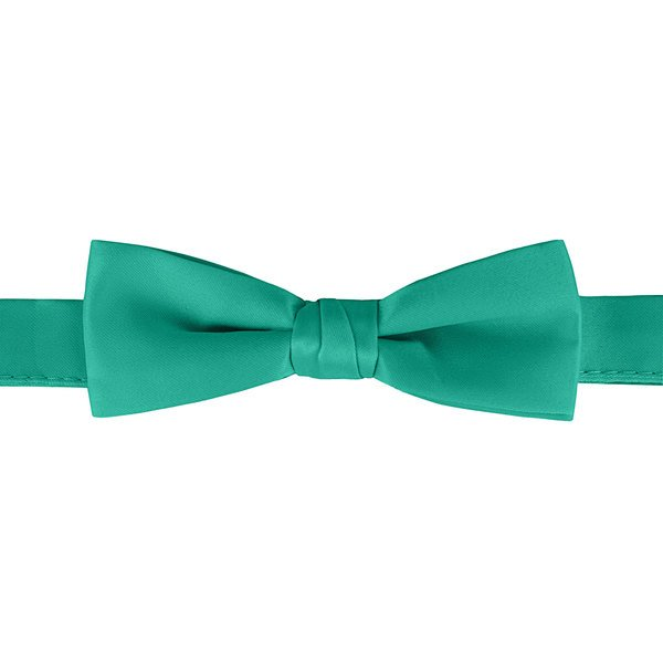 "Henry Segal Teal 1 1/2"" Wide Adjustable Band Poly-Satin Bow Tie Main Image 1"