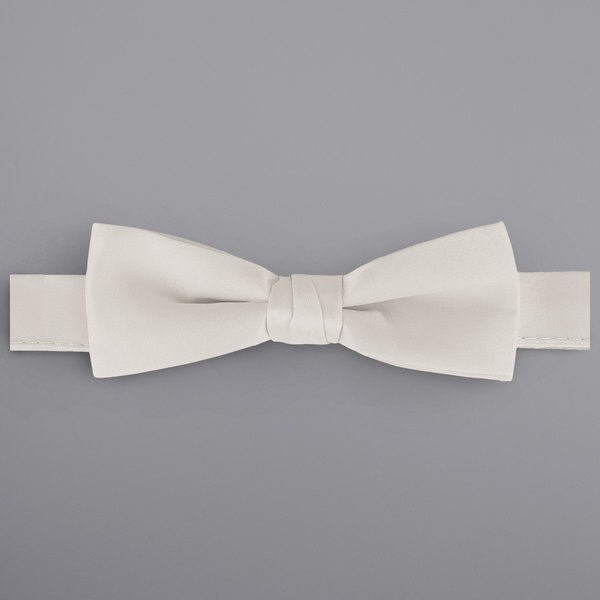 """Henry Segal Ivory 1 1/2"""" Wide Adjustable Band Poly-Satin Bow Tie Main Image 1"""
