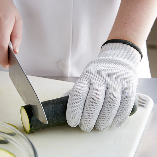 Mercer Culinary M334131X Millennia® White A5 Level Cut-Resistant Glove - Extra Large Main Image 3
