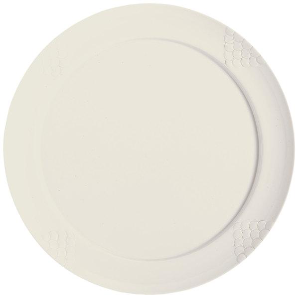 """GET RP-20-IV 20"""" Ivory Sonoma Melamine Plate - 6/Case"""