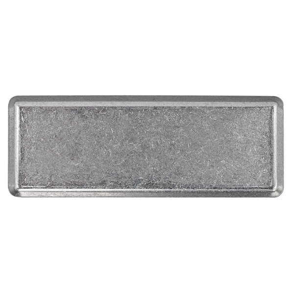 """Front of the House DSU010ANS22 Mod 11 1/2"""" x 4 1/4"""" Rectangular Antique Finish Stainless Steel Plate - 6/Case Main Image 1"""
