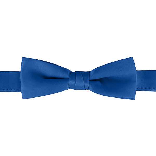 "Henry Segal Royal Blue 1 1/2"" Wide Adjustable Band Poly-Satin Bow Tie Main Image 1"