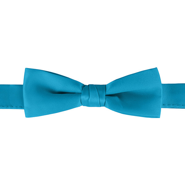"""Henry Segal Turquoise 1 1/2"""" Wide Adjustable Band Poly-Satin Bow Tie Main Image 1"""