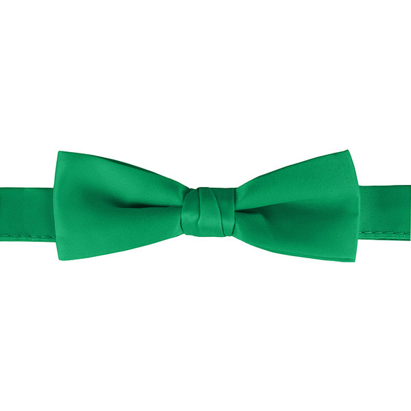 """Henry Segal Emerald Green 1 1/2"""" Wide Adjustable Band Poly-Satin Bow Tie Main Image 1"""