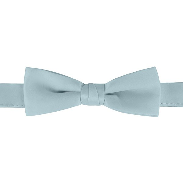 "Henry Segal Light Blue 1 1/2"" Wide Adjustable Band Poly-Satin Bow Tie Main Image 1"