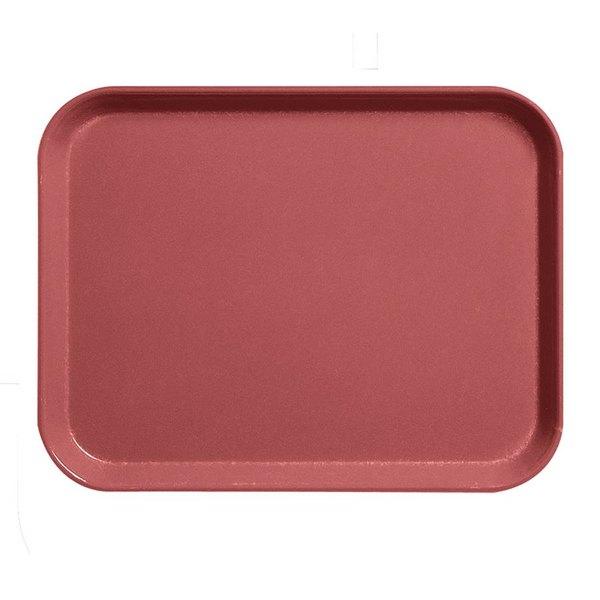 "Cambro 1520CL675 15"" x 20"" Steel Red Camlite Tray - 12/Case"