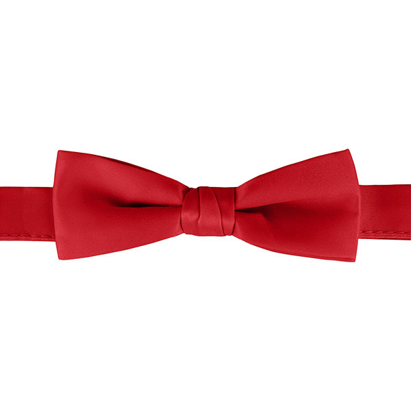 "Henry Segal Red 1 1/2"" Wide Adjustable Band Poly-Satin Bow Tie Main Image 1"