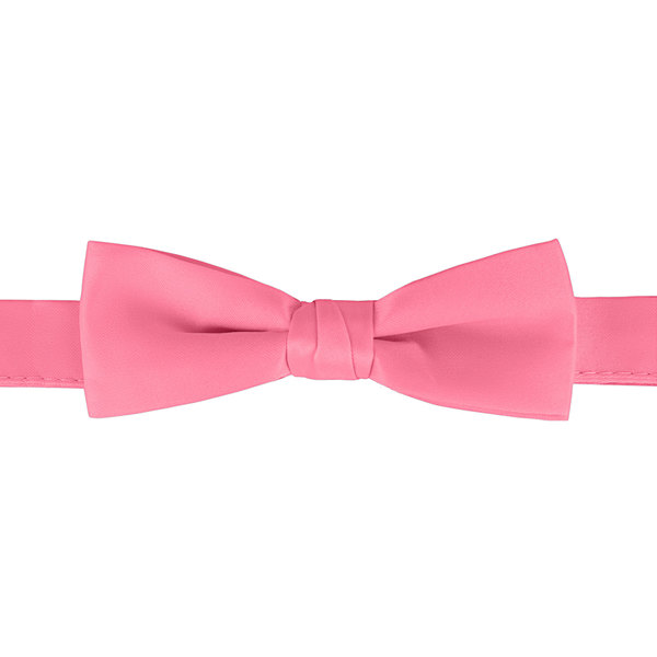 """Henry Segal Hot Pink 1 1/2"""" Wide Adjustable Band Poly-Satin Bow Tie Main Image 1"""
