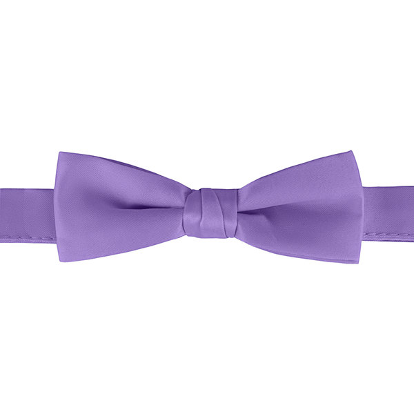 "Henry Segal Purple 1 1/2"" Wide Adjustable Band Poly-Satin Bow Tie Main Image 1"