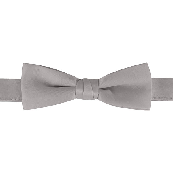 """Henry Segal Light Gray 1 1/2"""" Wide Adjustable Band Poly-Satin Bow Tie Main Image 1"""