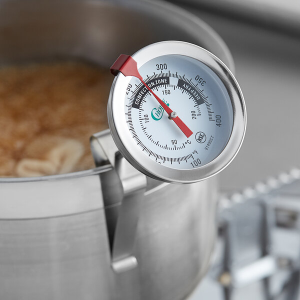Candy Deep Fryer Thermometer 150mm Stainless Steel Probe 100 to 400˚C