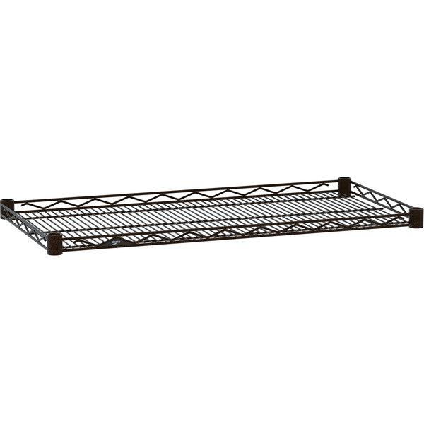"""Metro HDM1436-DCH Super Erecta Copper Hammertone Drop Mat Wire Shelf - 14"""" x 36"""""""