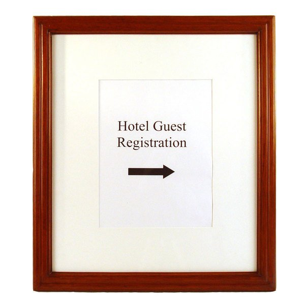 """17"""" x 1 1/2"""" 19 1/2"""" Wooden Information and Directional Sign Frame"""