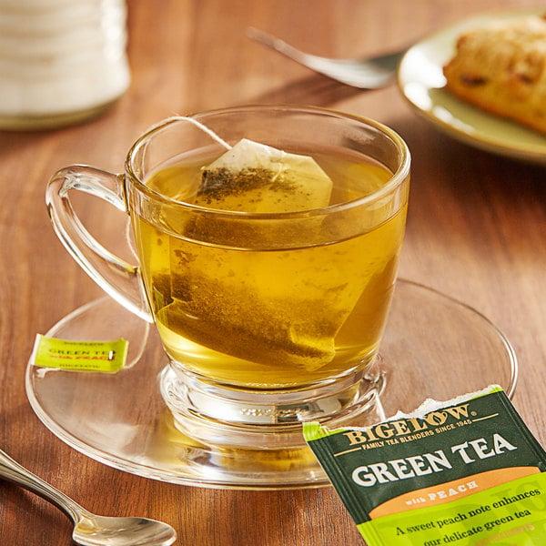 Bigelow Green Tea with Peach Tea Bags - 20/Box