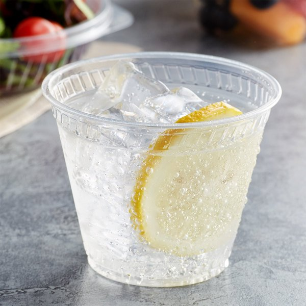Fabri-Kal GC9OF Greenware 9 oz. Compostable Clear Plastic Squat Cold Cup - 1000/Case Main Image 2