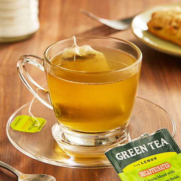 Bigelow Green Tea with Lemon Decaffeinated Tea Bags - 20/Box Main Image 2