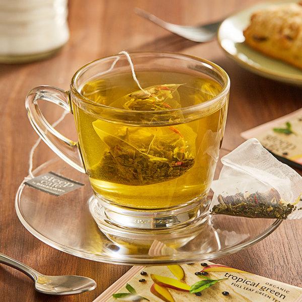 Steep Cafe By Bigelow Organic Tropical Green Tea Pyramid Sachets - 50/Case Main Image 3