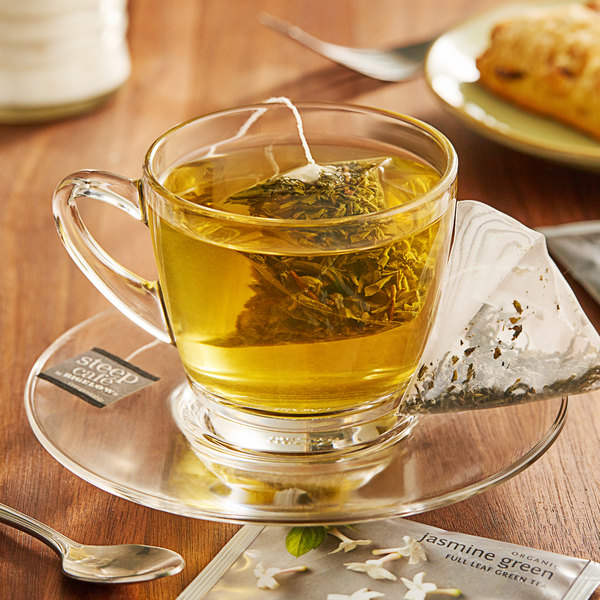 Steep Cafe By Bigelow Organic Jasmine Green Tea Pyramid Sachets - 50/Case Main Image 3