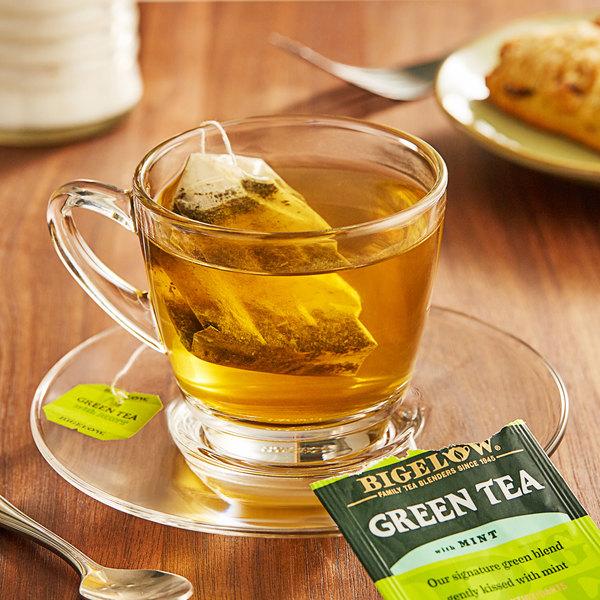 Bigelow Green Tea with Mint Tea Bags - 20/Box Main Image 2