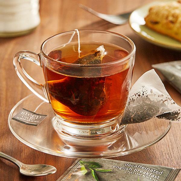 Steep Cafe By Bigelow English Breakfast Decaffeinated Tea Pyramid Sachets - 50/Case Main Image 3