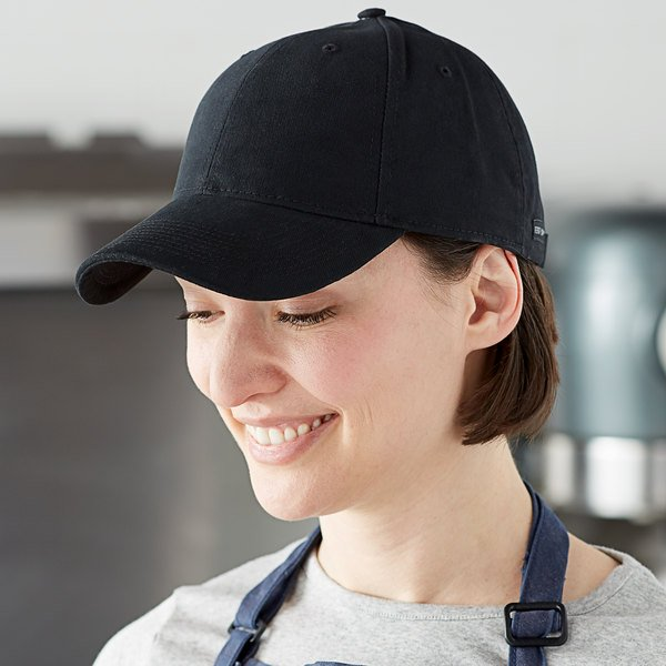 Henry Segal Customizable 6-Panel Black Chef Cap with Moisture Wicking Band and UV Protection Main Image 3