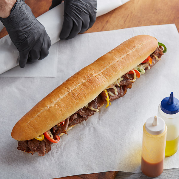 "LeBus 16"" Steak Sandwich Hoagie Roll - 24/Case Main Image 2"