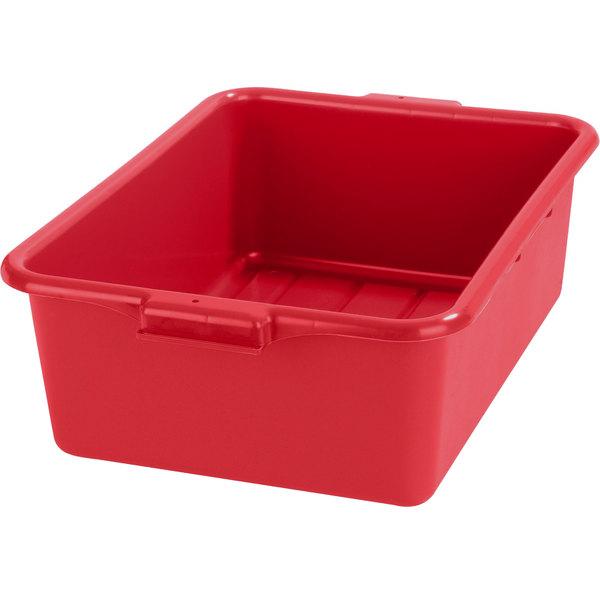 "Carlisle N4401105 Comfort Curve 20"" x 15"" x 7"" Red Polyethylene NSF Bus Tub Main Image 1"