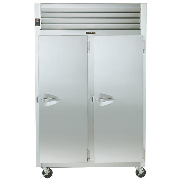 """Traulsen G22012 52"""" G Series Two Section Solid Door Reach in Freezer with Right / Right Hinged Doors - 46 cu. ft."""