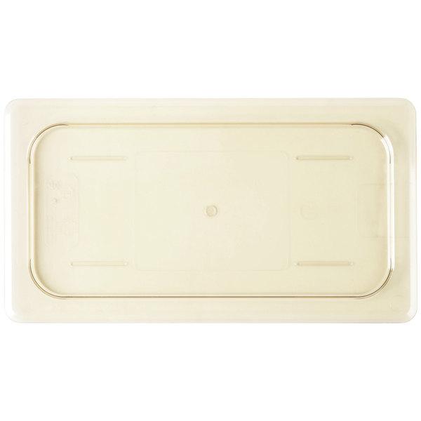 Cambro 30HPC150 H-Pan™ 1/3 Size Amber High Heat Flat Lid