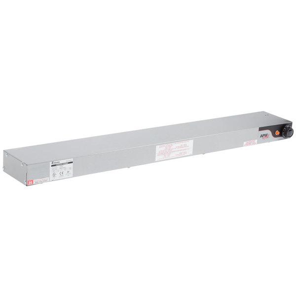 """APW Wyott FD-66H-I 66"""" High Wattage Calrod Strip Food Warmer with Infinite Controls - 208V, 1800W"""