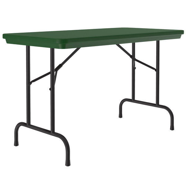 "Correll R-Series R2448 24"" x 48"" Green Plastic Folding Table Main Image 1"