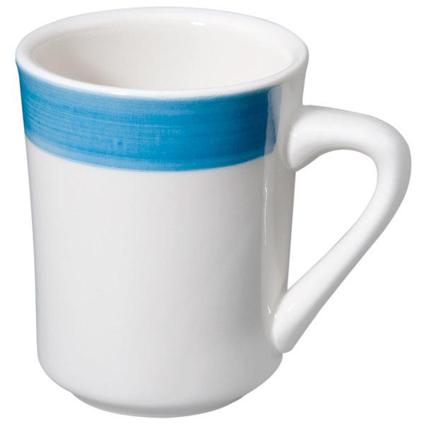 CAC R-17-BLU Rainbow Tierra Coffee Mug 8.5 oz. - Blue - 36/Case