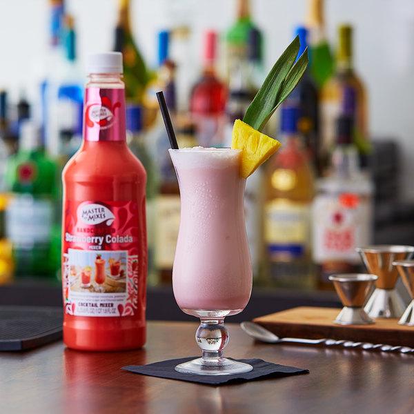 Master of Mixes 1 Liter Strawberry Colada Mix